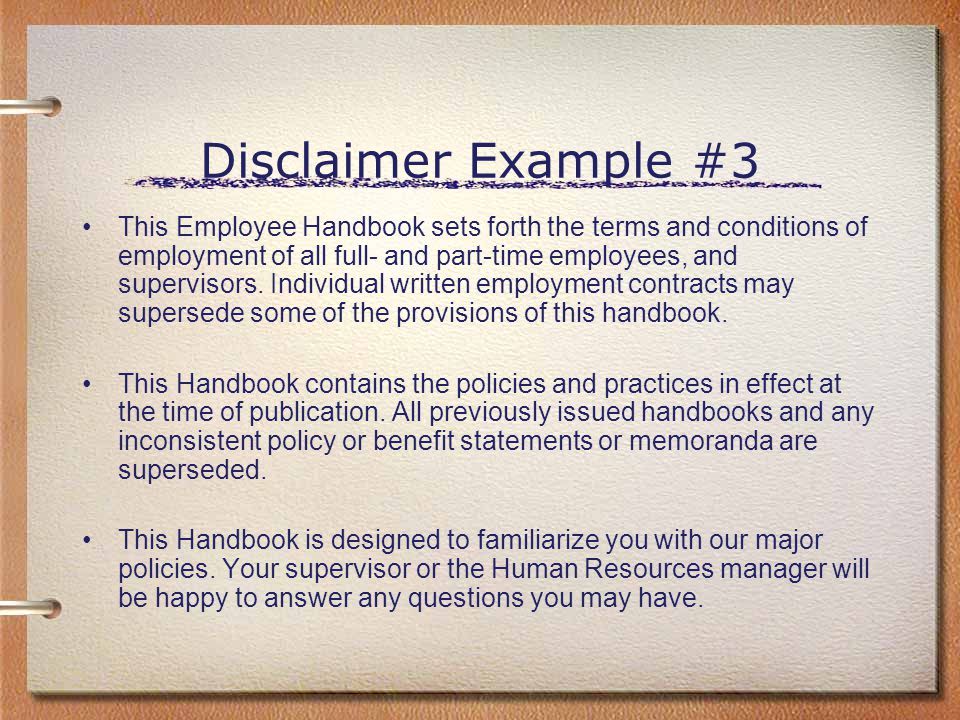 Disclaimer Example #3