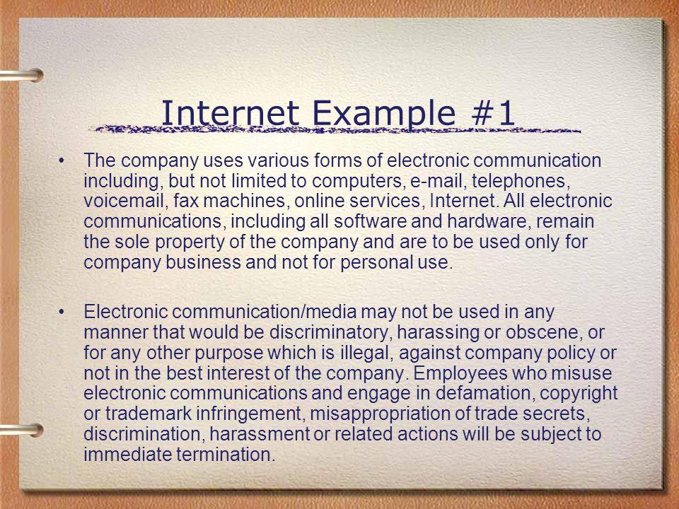 Internet Example #1