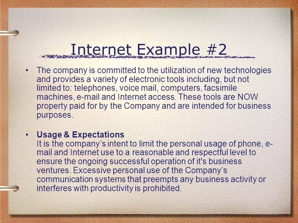 Internet Example #2