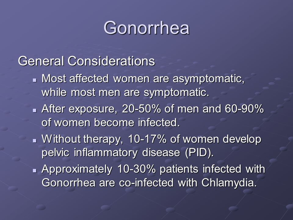 Gonorrhea General Considerations