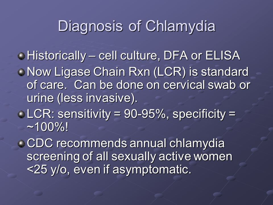 Diagnosis of Chlamydia