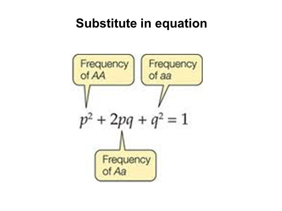 Substitute in equation