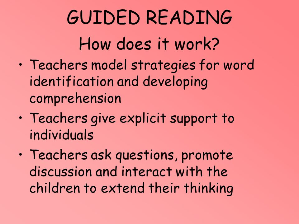 GUIDED READING How does it work
