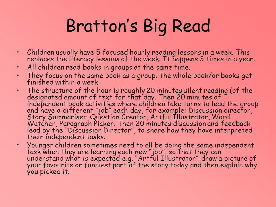 Bratton's Big Read