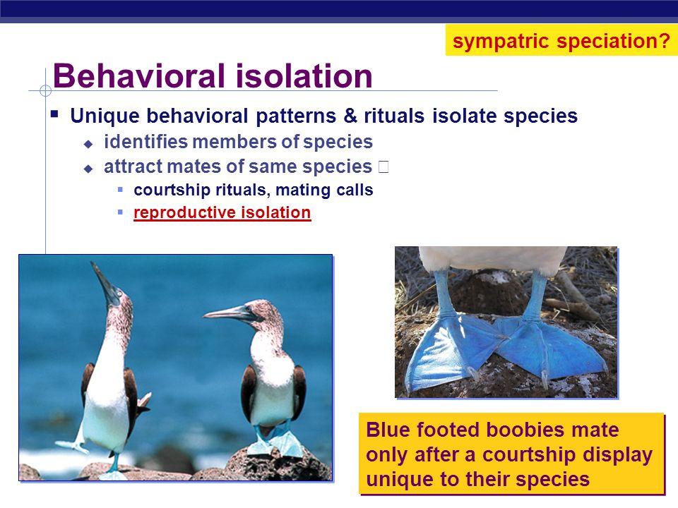 Behavioral isolation sympatric speciation