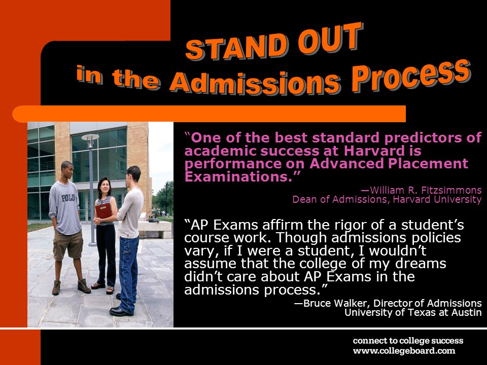 in the Admissions Process