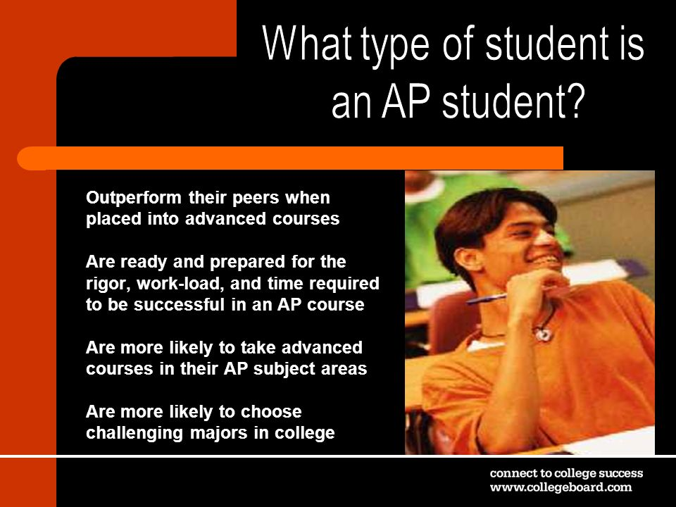 What type of student is an AP student Outperform their peers when