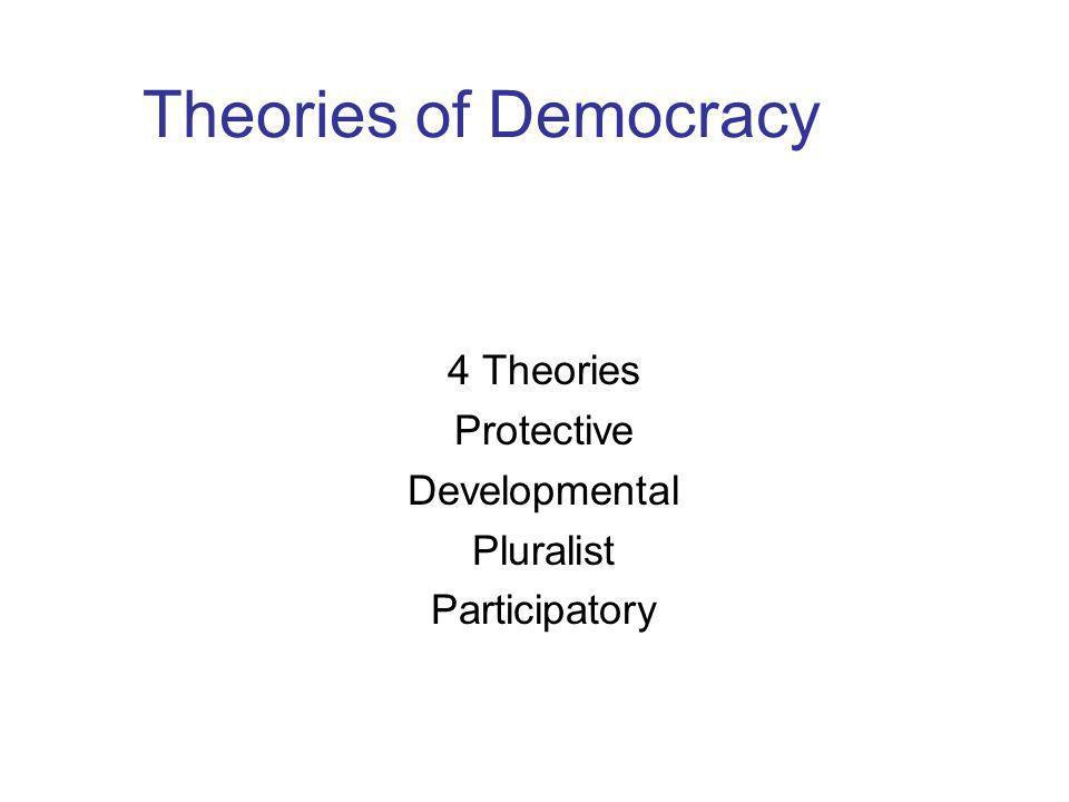 4 Theories Protective Developmental Pluralist Participatory
