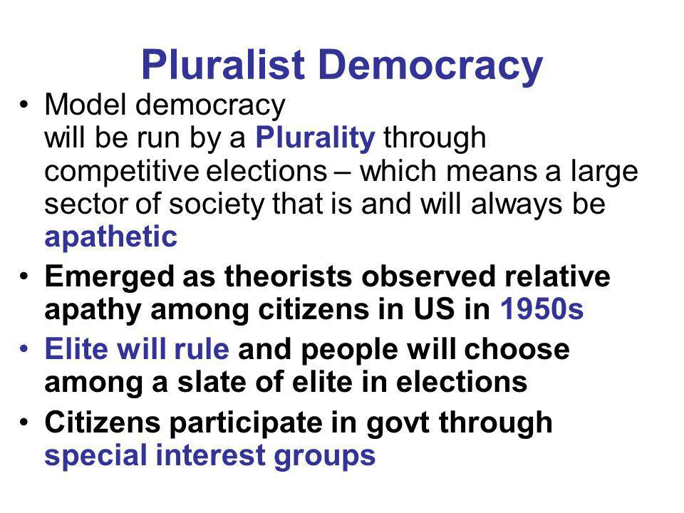 Pluralist Democracy