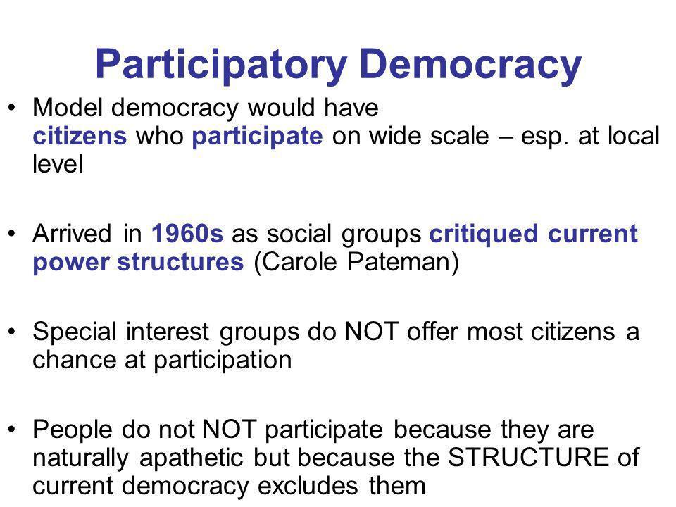 Participatory Democracy
