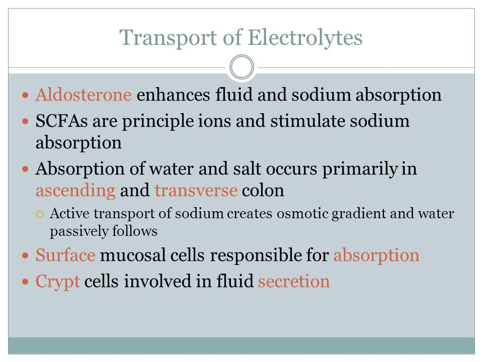 Transport of Electrolytes