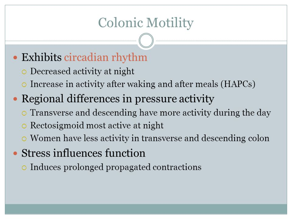 Colonic Motility Exhibits circadian rhythm
