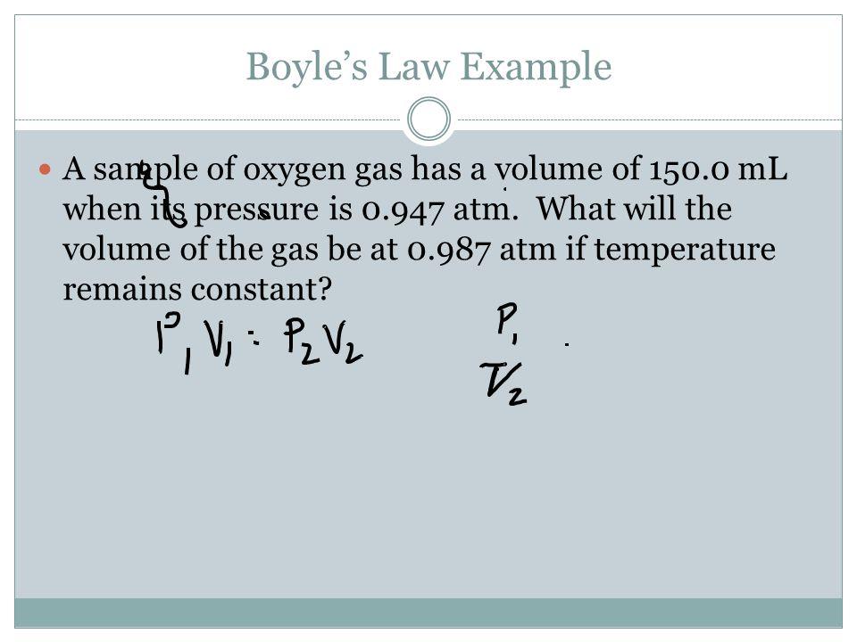 Boyle's Law Example