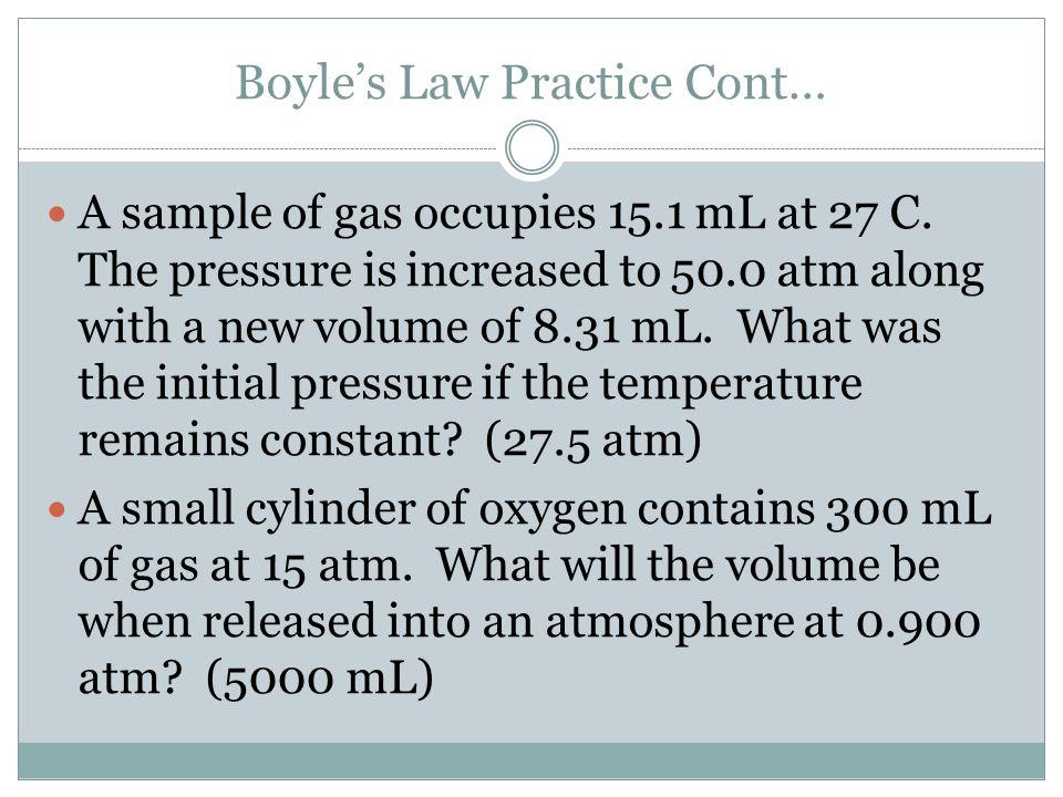 Boyle's Law Practice Cont…