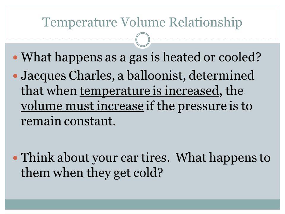 Temperature Volume Relationship