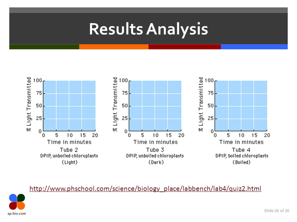 Results Analysis http://www.phschool.com/science/biology_place/labbench/lab4/quiz2.html