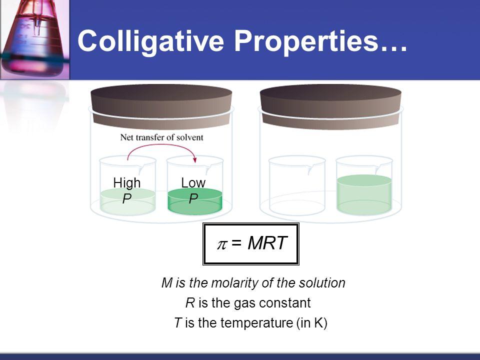 Colligative Properties…