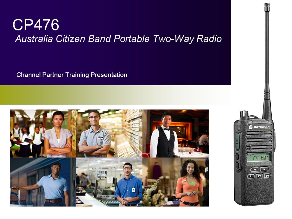 CP476 Australia Citizen Band Portable Two-Way Radio