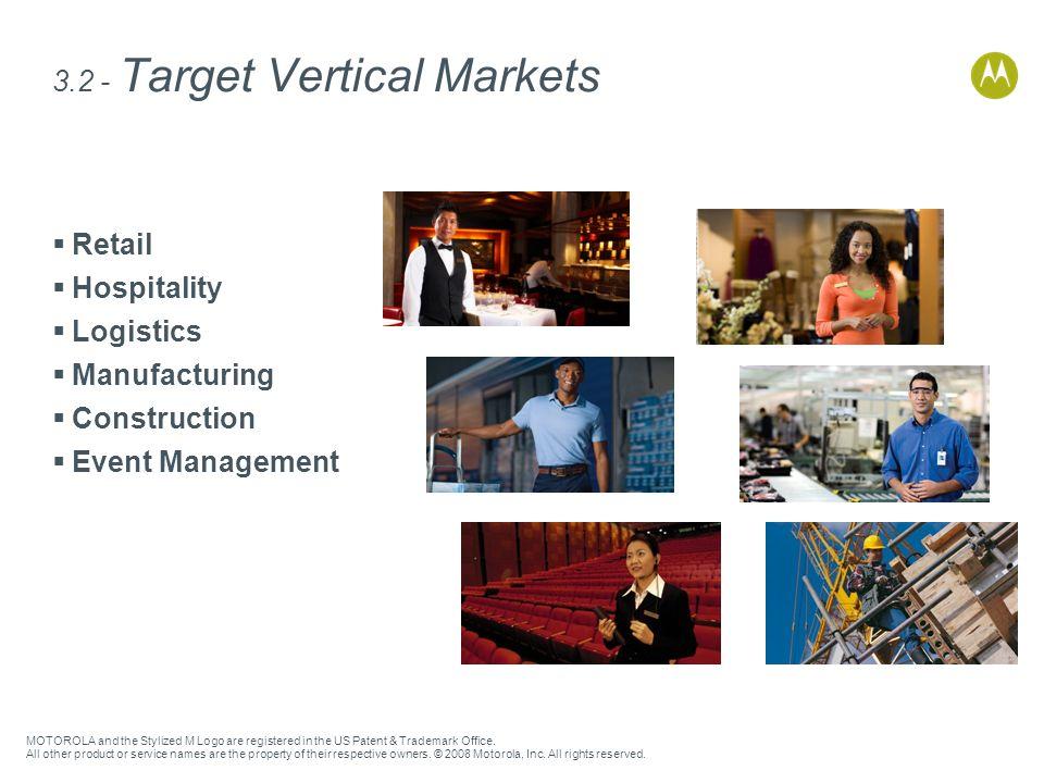 3.2 - Target Vertical Markets