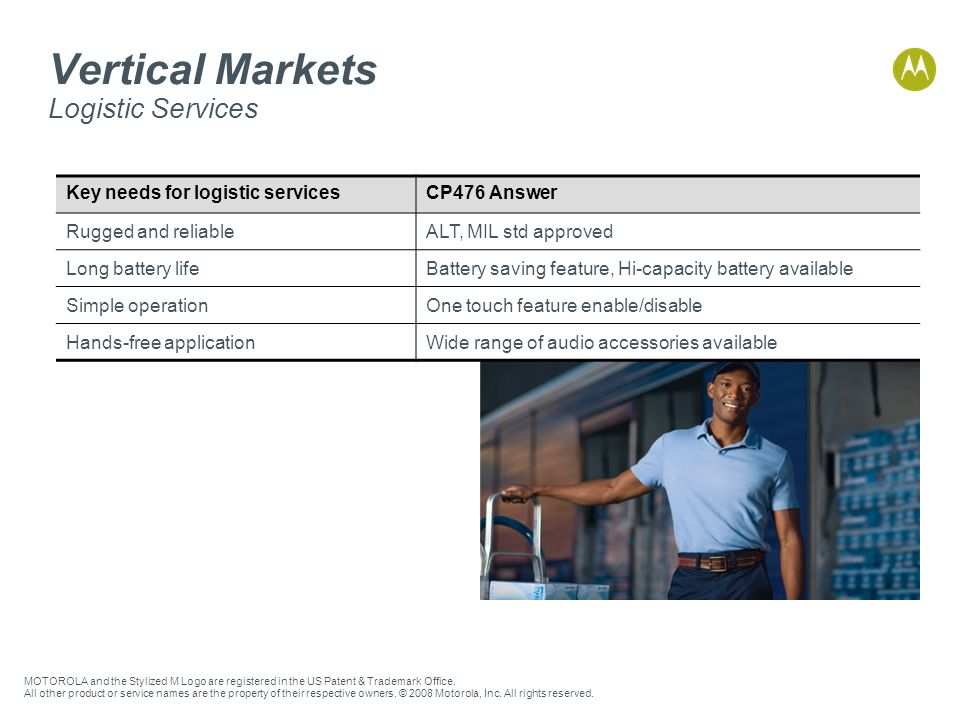 Vertical Markets Logistic Services