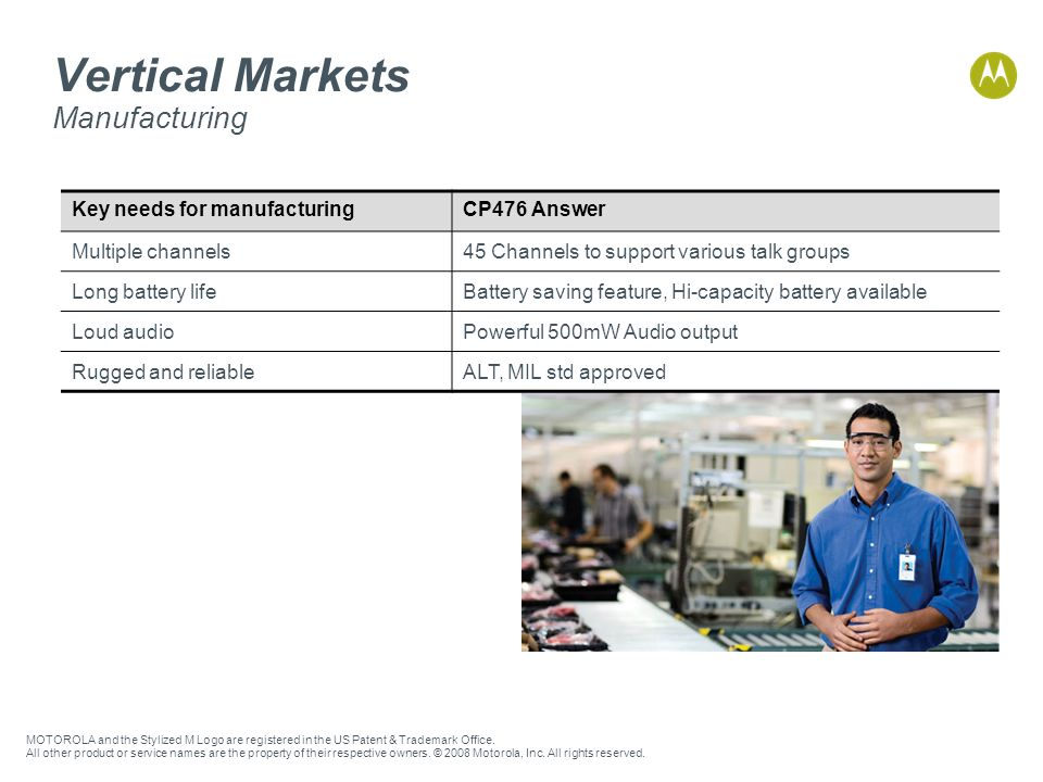 Vertical Markets Manufacturing