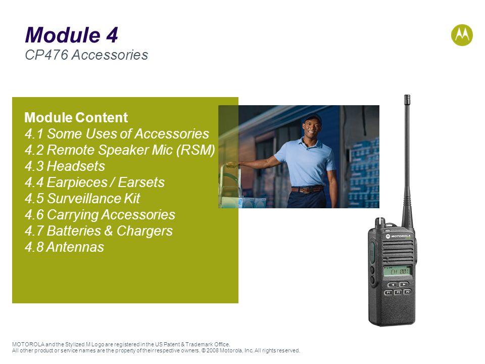 Module 4 CP476 Accessories Module Content