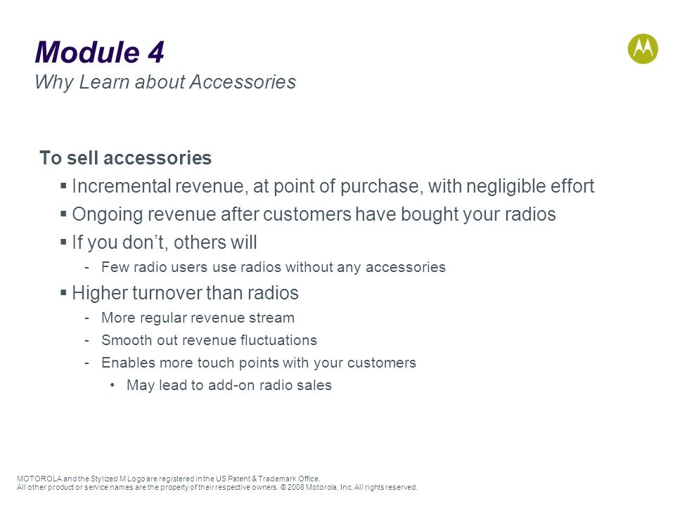 Module 4 Why Learn about Accessories