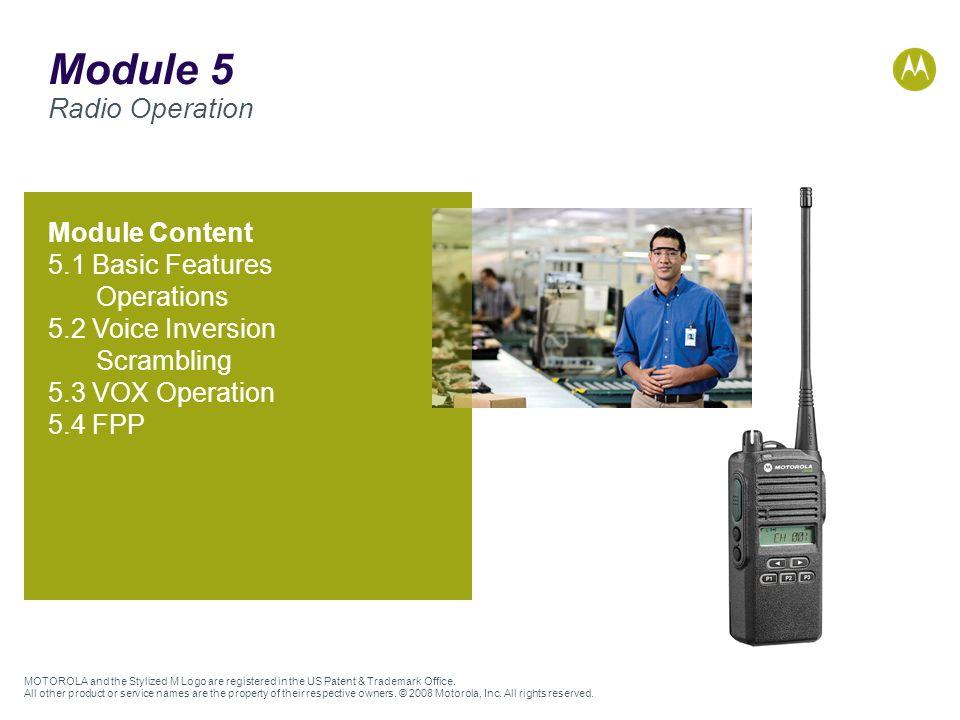 Module 5 Radio Operation