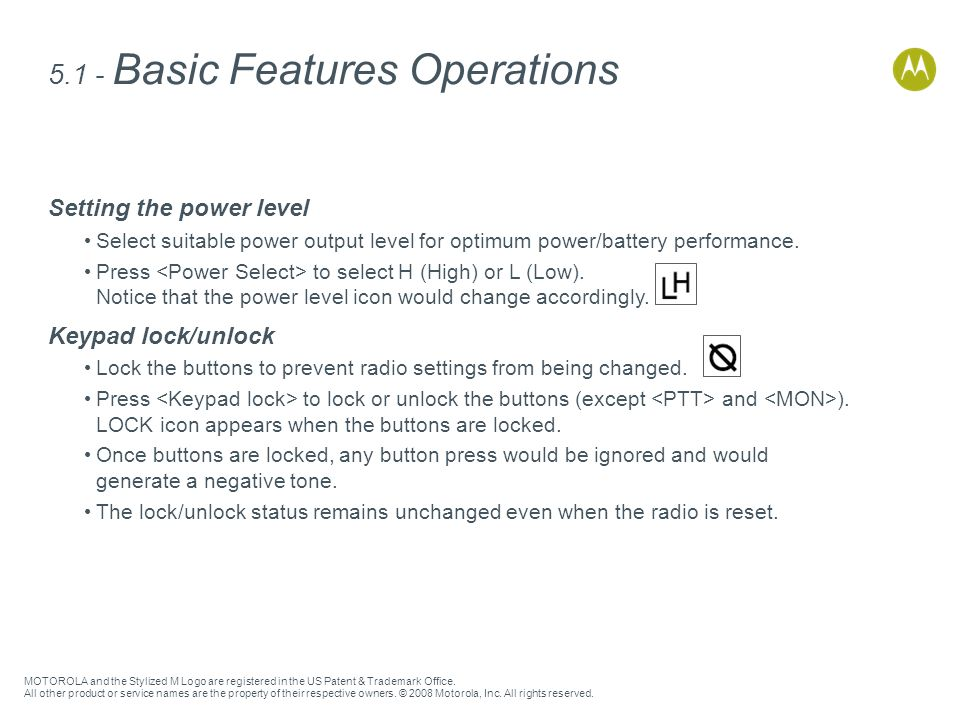 5.1 - Basic Features Operations