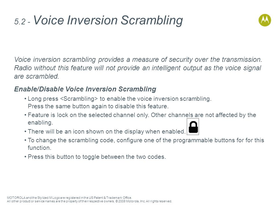 5.2 - Voice Inversion Scrambling
