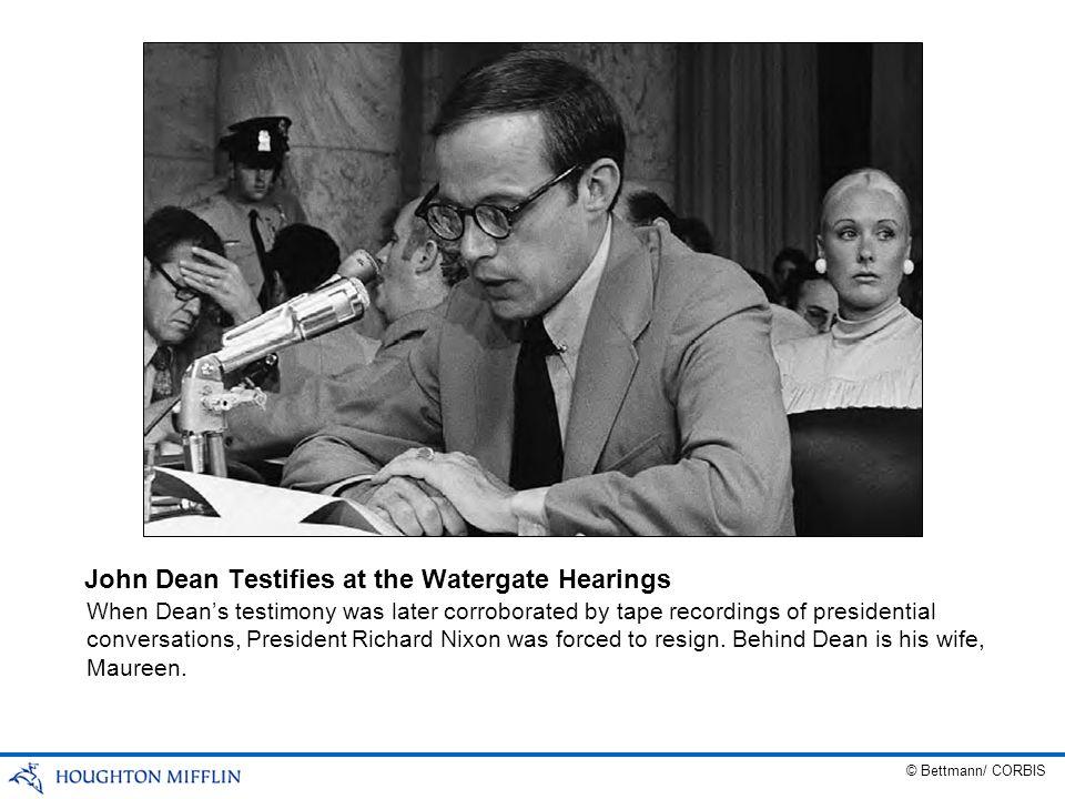 John Dean Testifies at the Watergate Hearings