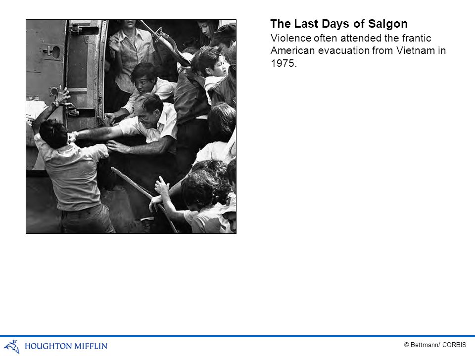 The Last Days of Saigon Violence often attended the frantic American evacuation from Vietnam in