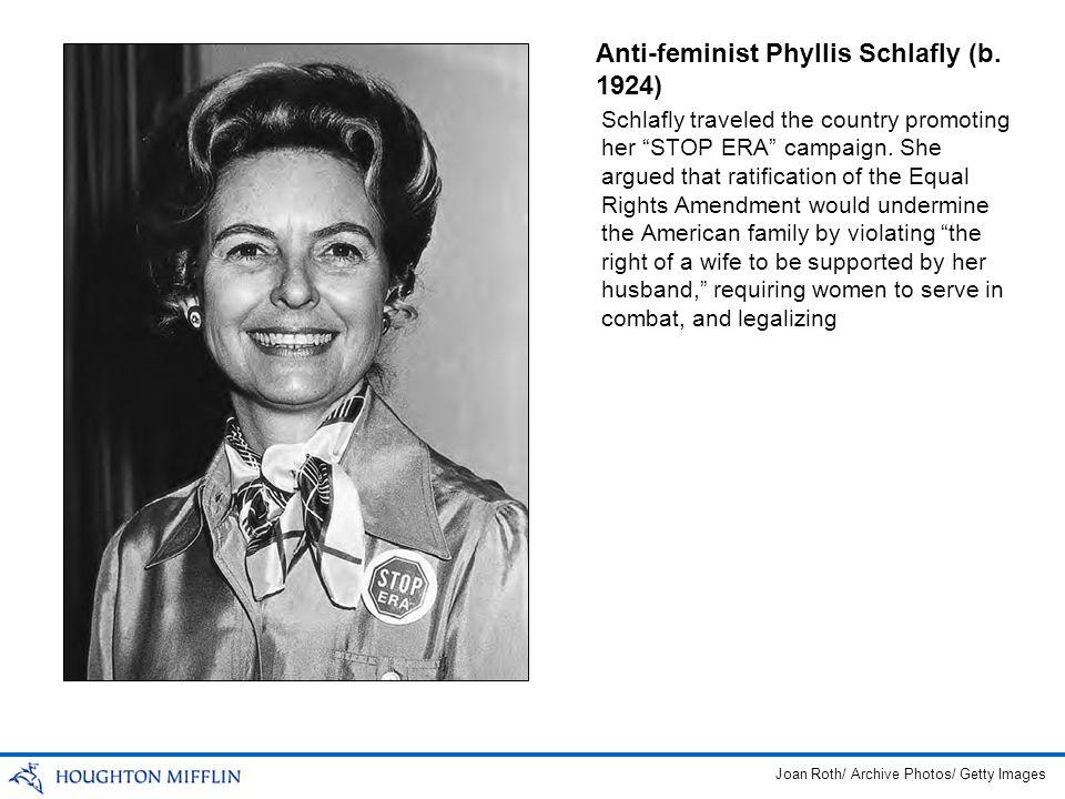 Anti-feminist Phyllis Schlafly (b. 1924)