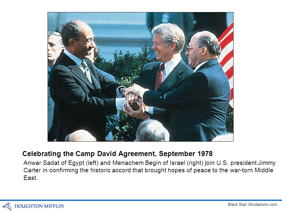 Celebrating the Camp David Agreement, September 1978