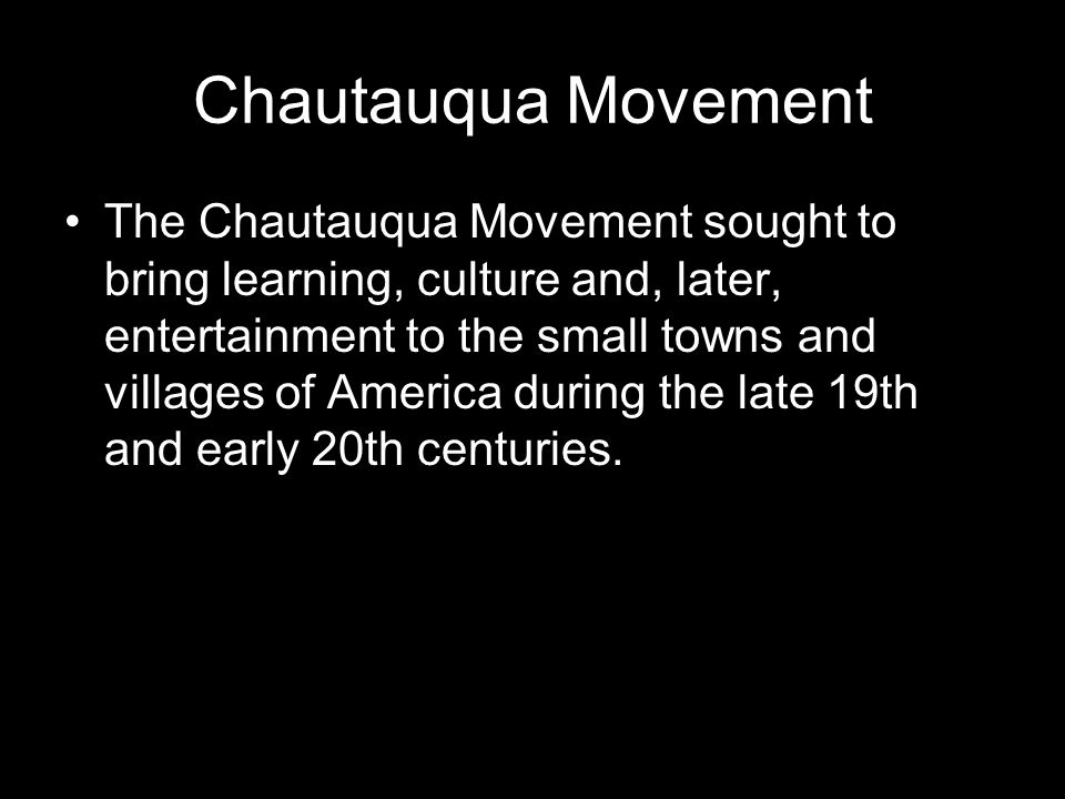 Chautauqua Movement