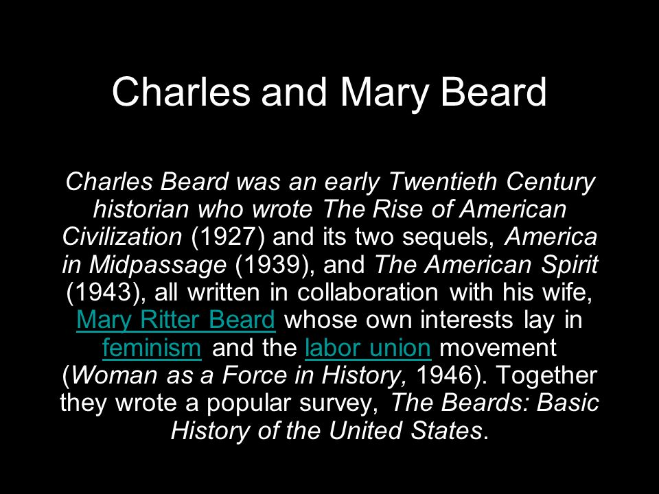 Charles and Mary Beard