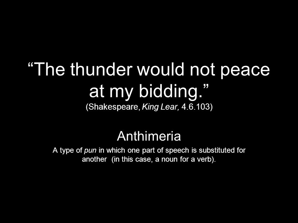The thunder would not peace at my bidding