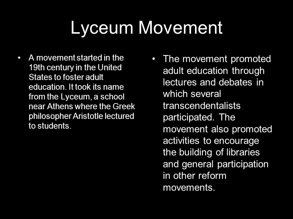Lyceum Movement