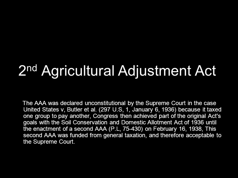 2nd Agricultural Adjustment Act