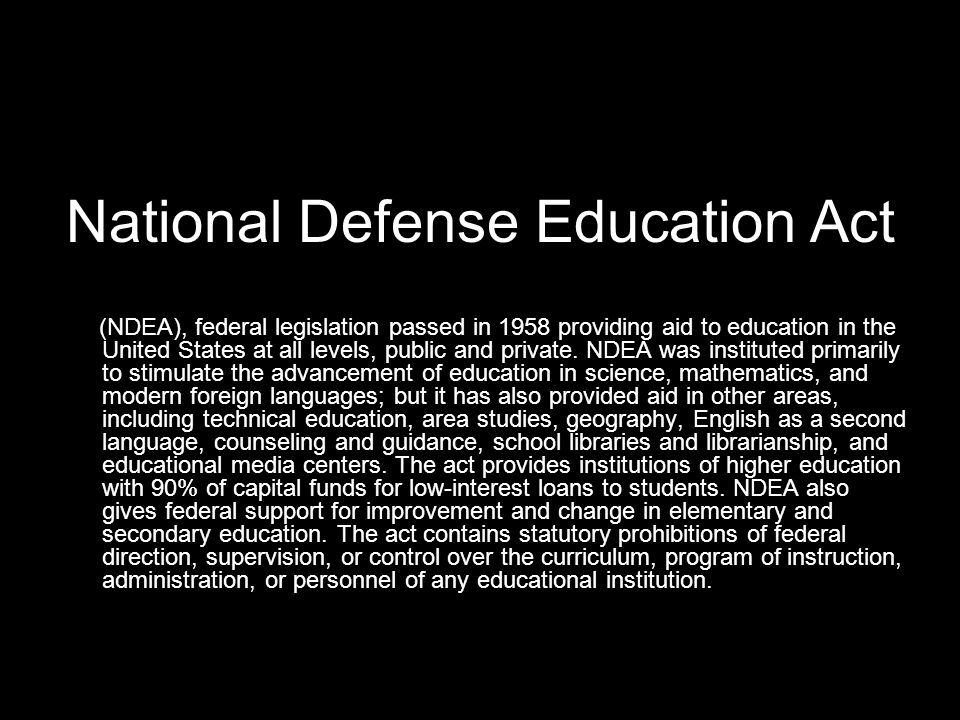 National Defense Education Act