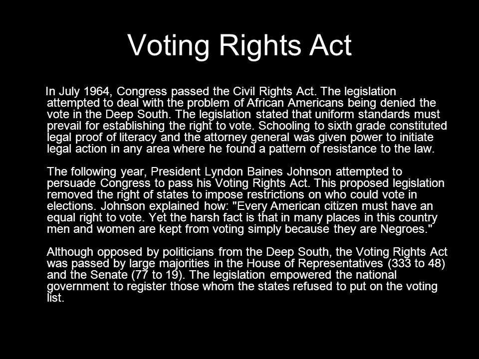 Voting Rights Act