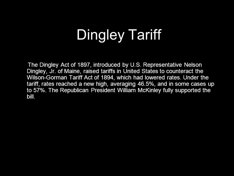 Dingley Tariff