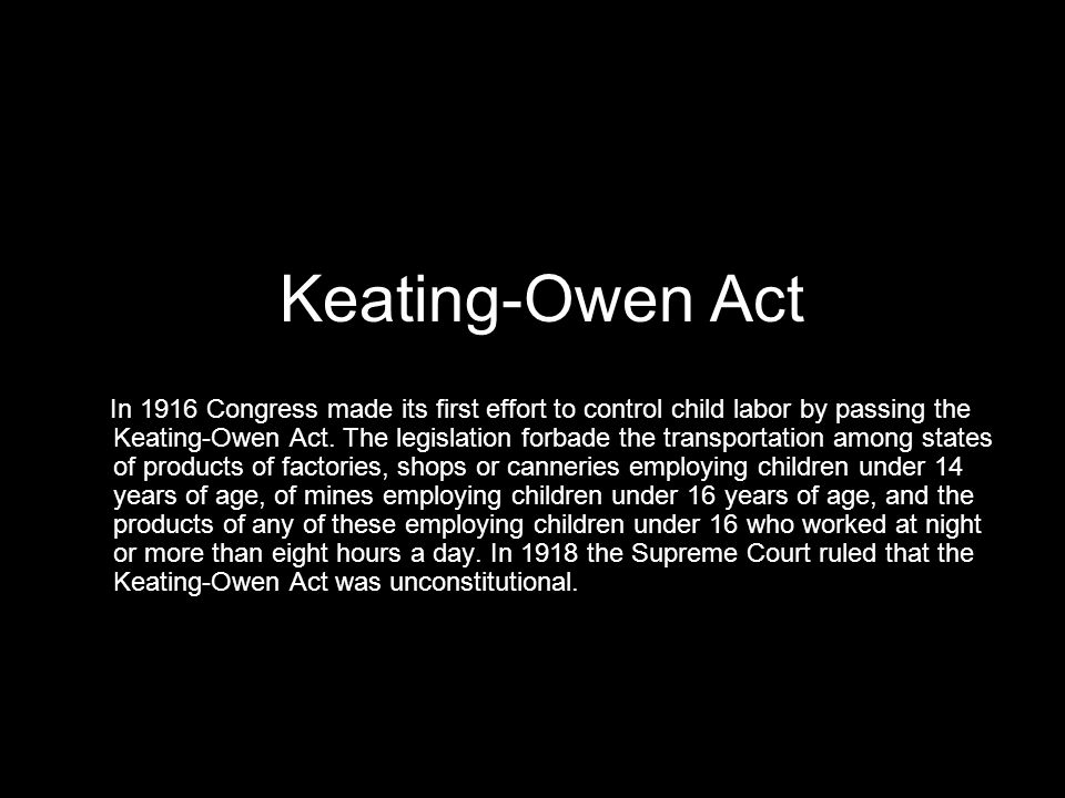 Keating-Owen Act