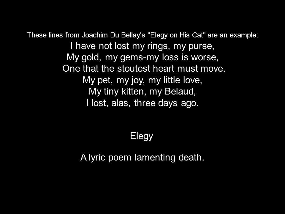A lyric poem lamenting death.