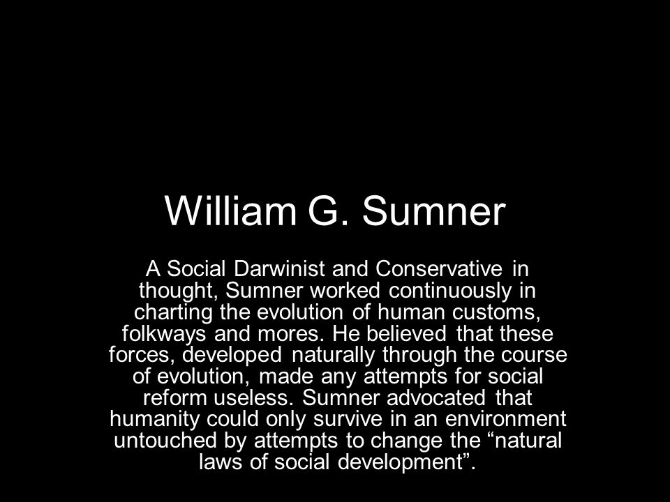 William G. Sumner