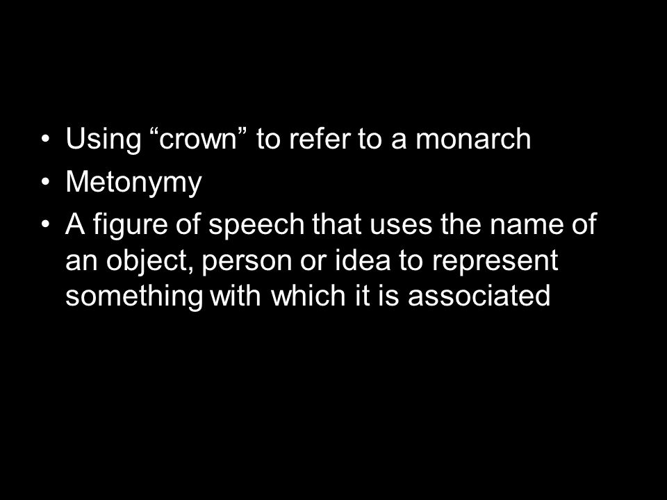 Using crown to refer to a monarch