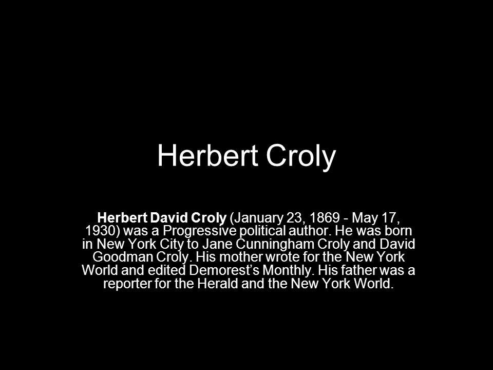 Herbert Croly