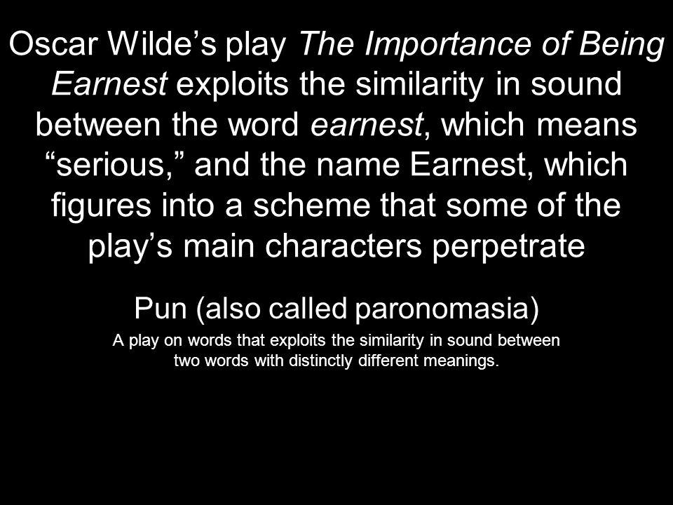 Pun (also called paronomasia)