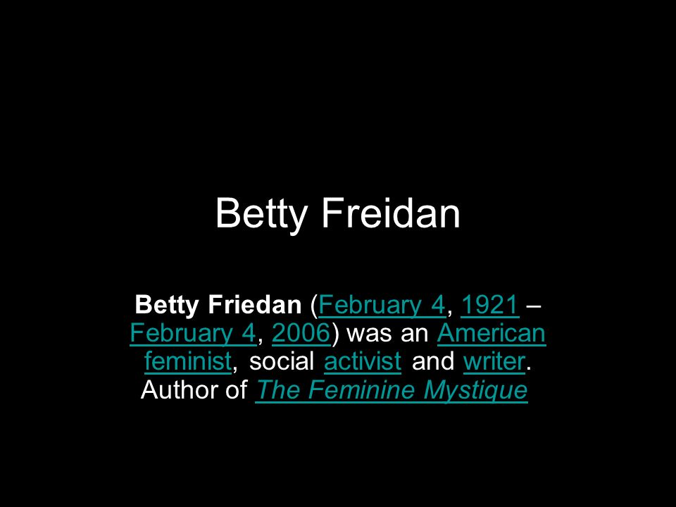 Betty Freidan