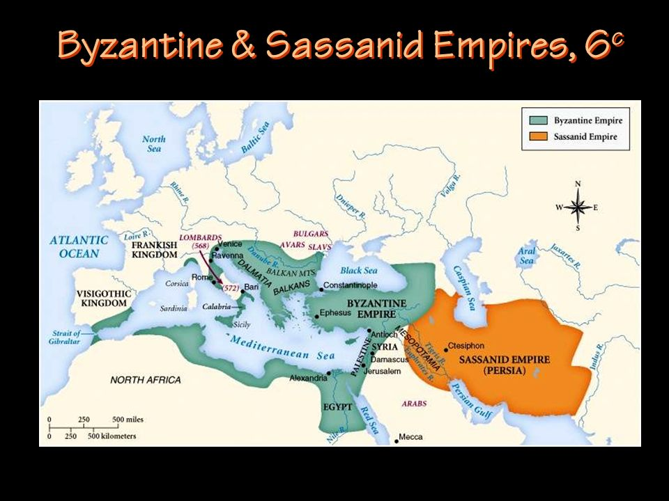 Byzantine & Sassanid Empires, 6c